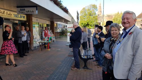 LP John Gee outside Burgess Hill Radio for their opening!