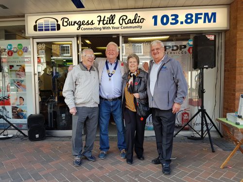 Lions supporting Burgess Hill Radio