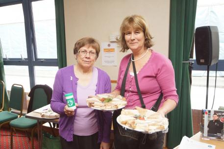 Sandwiches at the Mid Sussex Older People\\\'s Council get-together