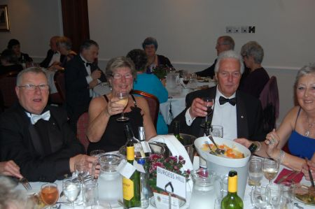 A merry table at the Dinner Dance