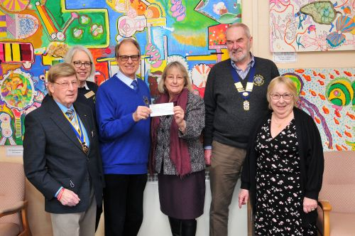 Presentation of cheque to Headway East Sussex