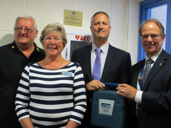 Installation of Defibrillator at Downlands Community College