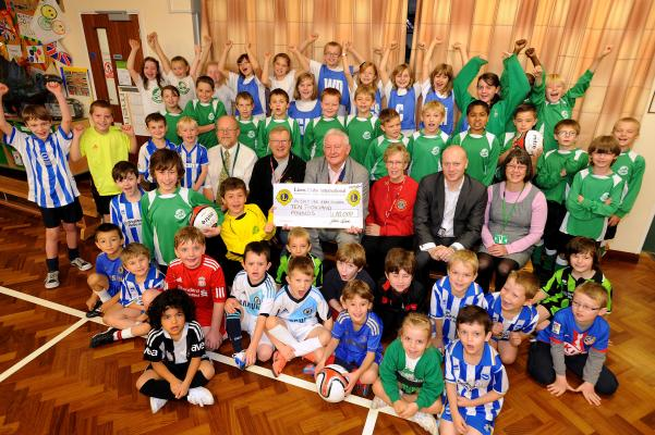 Presentation of cheque for £10,000 to Sheddingdean School for Playing Field Project