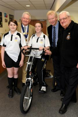 Presntation of Trike to St Paul's Collge by Burgess Hill District Lions and Alan Shaw of Harbeth Audio
