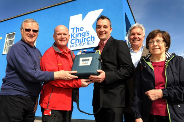 Presentation of defibrillator to King's Church