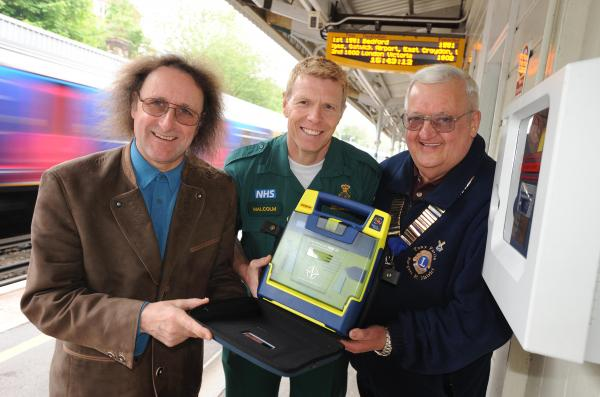 Presentation of Defibrillator to Ambulance Brigade at Burgess Hill Station