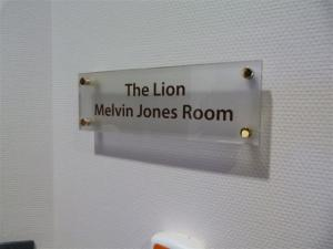 Melvin Jones Room Plaque