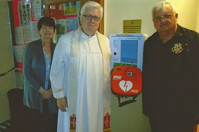 Defibrillator in St Johns Church
